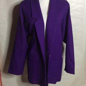 Jackets & Blazers - Purple Plus Size Blazer